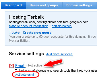 Klik Activate Email